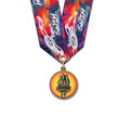 CXC Color Fill Award Medal w/ Multicolor Neck Ribbon