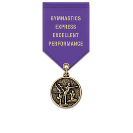 CX Sports Award Medal w/ Satin Drape Ribbon