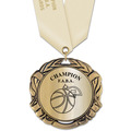 XBX Metallic Sports Award Medal w/ Satin Neck Ribbon