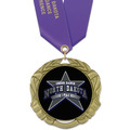 XBX Full Color Sports Award Medal w/ Satin Neck Ribbon