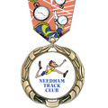 XBX Full Color Sports Award Medal w/ Multicolor Neck Ribbon