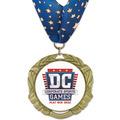 XBX Full Color Sports Award Medal w/ Millennium Neck Ribbon