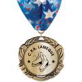 XBX Metallic Sports Award Medal w/ Millennium Neck Ribbon