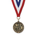 MX Medal w/ Red/White/Blue or Flag Grosgrain Neck Ribbon