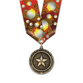 MX Sports Award Medal w/ Multicolor Neck Ribbon