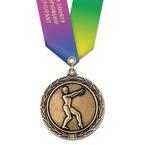 LX Medal w/ Specialty Satin Neck Ribbon