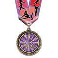 LXC Color Fill Sports Award Medal w/ Multicolor Neck Ribbon