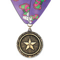 LX Sports Award Medal w/ Custom Millennium Neck Ribbon