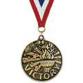 WC Medal w/ Red/White/Blue Grosgrain Neck Ribbon