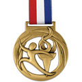 Atlas Sports Award Medal w/ Red/White/Blue Grosgrain Neck Ribbon