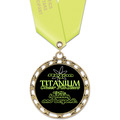 ST14 Star Full Color Sports Award Medal w/ Any Satin Neck Ribbon