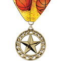 ST Sports Award Medal w/ Custom Millennium Neck Ribbon