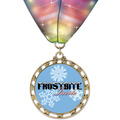 ST14 Star Full Color Sports Award Medal w/ Millennium Neck Ribbon