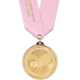 BL Sports Award Medal w/ Satin Neck Ribbon