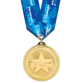 BL Sports Award Medal w/ Multicolor Neck Ribbon