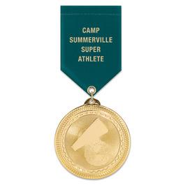 BL Sports Award Medal w/ Satin Drape Ribbon