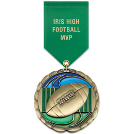 CEM Sports Award Medal w/ Satin Drape Ribbon