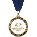GFL Full Color Sports Award Medal w/ Grosgrain Neck Ribbon