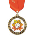GFL Full Color Sports Award Medal w/ Satin Neck Ribbon