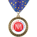 GFL Full Color Sports Award Medal w/ Millennium Neck Ribbon