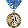 GFL Metallic Sports Award Medal w/ Millennium Neck Ribbon