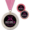 GEM Full Color Sports Award Medal w/ Grosgrain Neck Ribbon