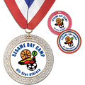 GEM Full Color Sports Award Medal w/ Millennium Neck Ribbon