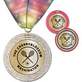 GEM Metallic Sports Award Medal w/ Millennium Neck Ribbon