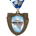 MS14 Mega Shield Full Color Sports Award Medal w/ Millennium Neck Ribbon