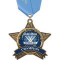 AS All Star Sports Award Medal w/ Any Satin Neck Ribbon