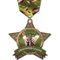 AS All Star Full Color Sports Award Medal w/ Multicolor Neck Ribbon