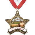 AS14 All Star Full Color Sports Award Medal w/ Millennium Neck Ribbon