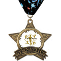 AS All Star Full Color Sports Award Medal w/ Millennium Neck Ribbon