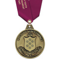 HS Award Sports Medal w/ Satin Neck Ribbon