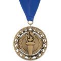 Rising Star Sports Award Medal with Grosgrain Neck Ribbon