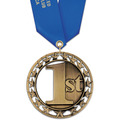 Rising Star Sports Award Medal with Satin Neck Ribbon