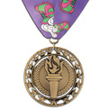 Rising Star Sports Award Medal w/ Custom Millennium Neck Ribbon