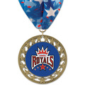 RS14 Full Color Sports Award Medal with Millennium Neck Ribbon