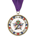 RSG Full Color Sports Award Medal with Grosgrain Neck Ribbon