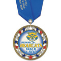 RSG47 Full Color Sports Award Medal with Satin Neck Ribbon