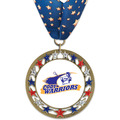 RSG47 Full Color Sports Award Medal with Millennium Neck Ribbon