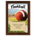 Football Award Plaque - Cherry Finish