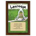 Lacrosse Award Plaque - Cherry Finish