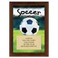 Soccer Award Plaque - Cherry Finish