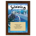 Swimming Award Plaque - Cherry Finish