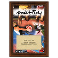 Track Award Plaque - Cherry Finish