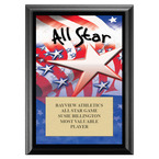 All Star Sports Award Plaque - Black