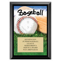 Baseball Award Plaque - Black