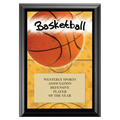 Basketball Award Plaque - Black