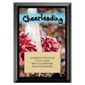 Cheerleading Award Plaque - Black